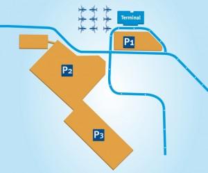 Parkeerplaatsen vliegveld Weeze