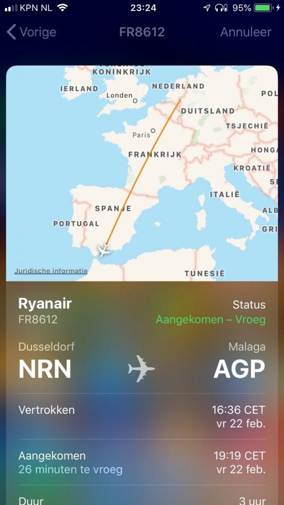 iPhone vluchtstatus